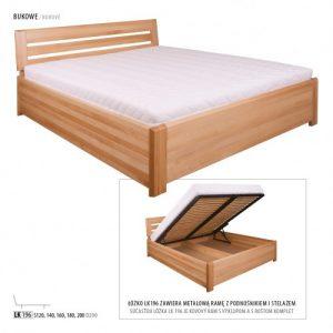 Łóżko bukowe LK196