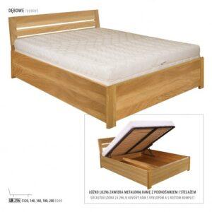 Łóżko dębowe LK296